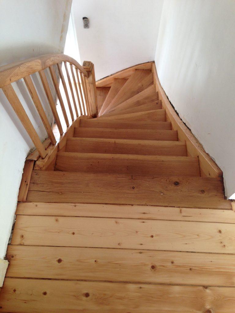 Alte Treppe aufgearbeitet